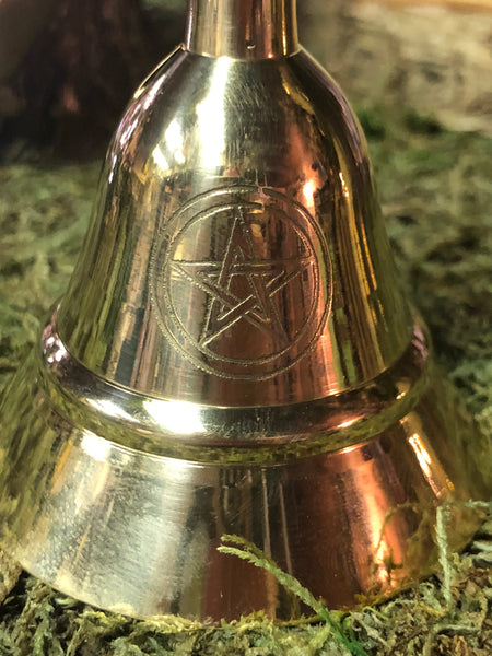Brass Altar Bell with Engraved Pentacle