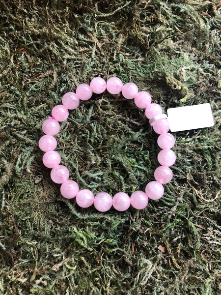Gemstone Bead Bracelet - Rose Quartz