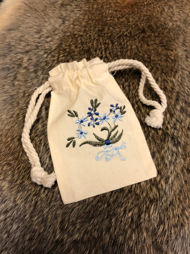 Embroidered Bag - Forget Me Not