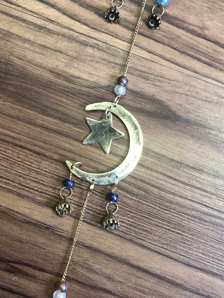 3 Part Stars and Moon Wind Chime