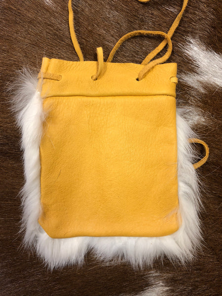 White Rabbit Fur Bag