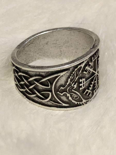 Norse Compass and Ravens Ring