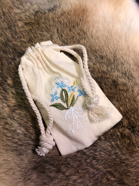 Embroidered Bag - Baby Blue Eyes