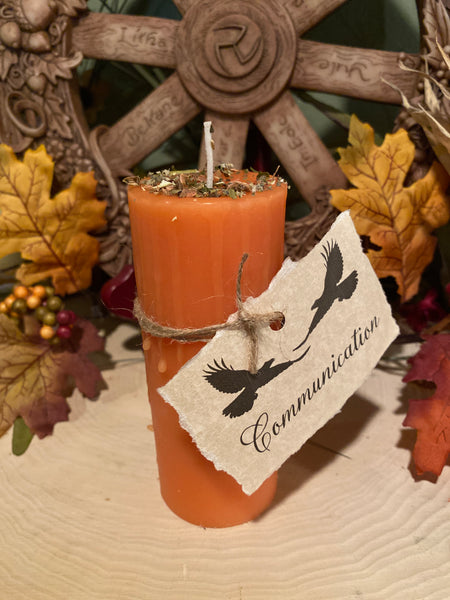 100% Beeswax Candle - Communication