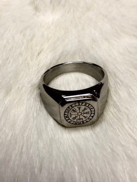 Vegvisir/Norse Compass Rune Ring