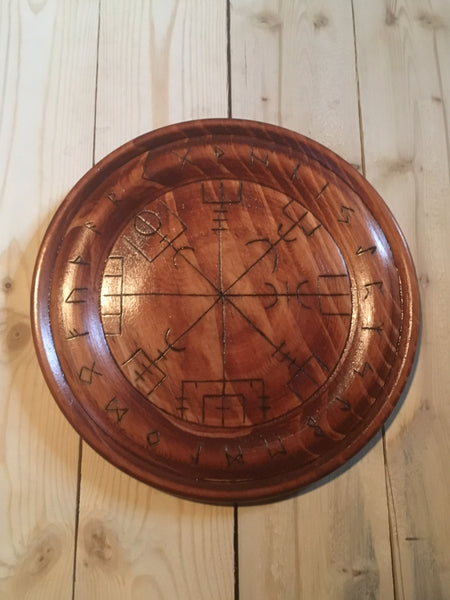 Norse Compass Wall Plaque (Vegvisir)