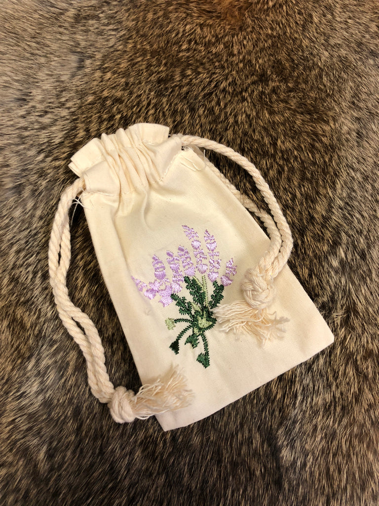Embroidered Bag - Lavender