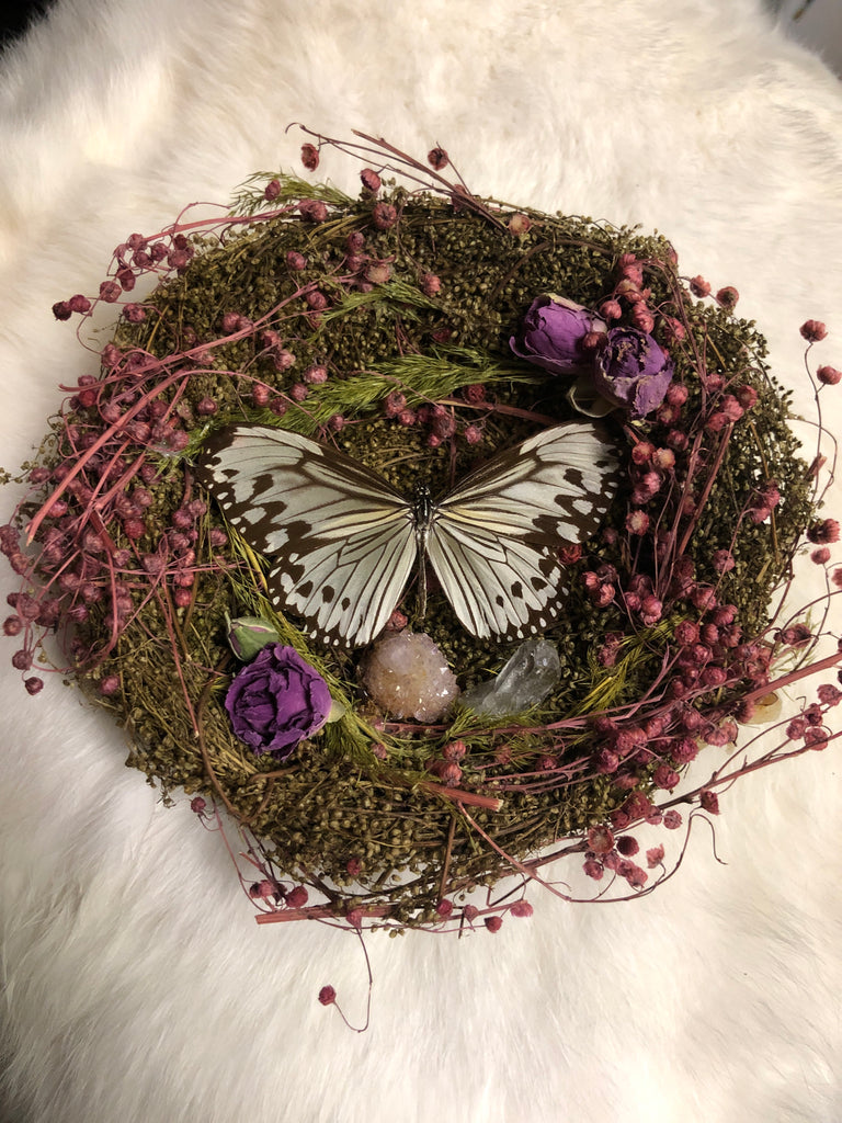 Butterfly Nest with Spirit Quartz