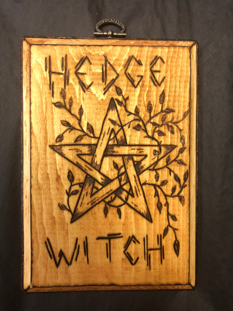 Hedge Witch Pentacle Wall Plaque
