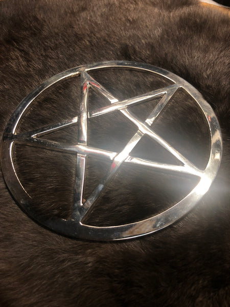 Metal Pentacle Altar Tile