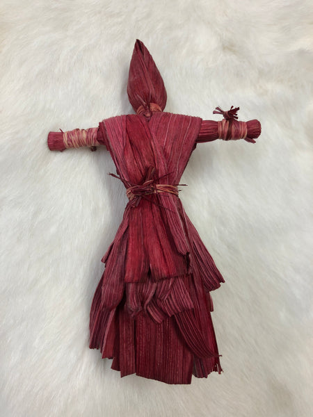 Corn Husk Dolls - Red