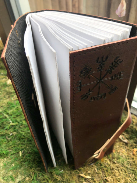 Custom Goat Leather Journal with Norse Compass