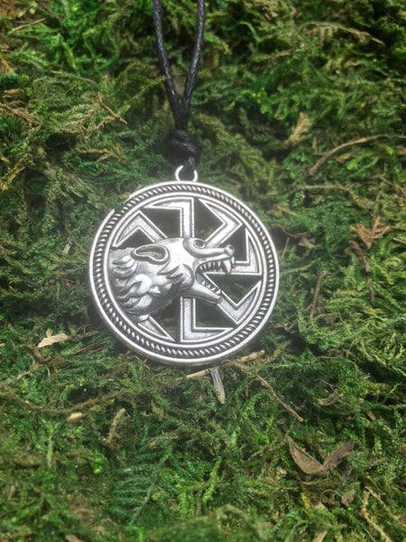 Wolf Kolovrat Pendant Necklace