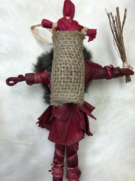 Corn Husk Krampus Doll - Medium