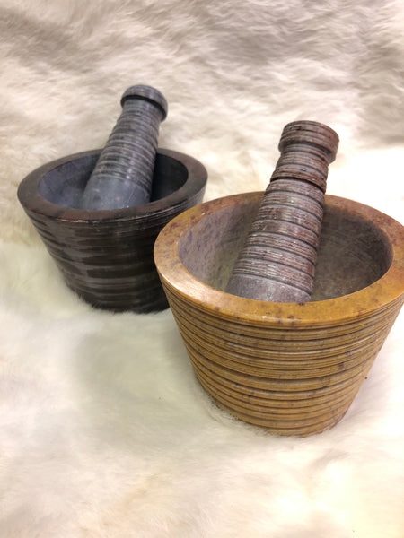 Carved Mortar and Pestle