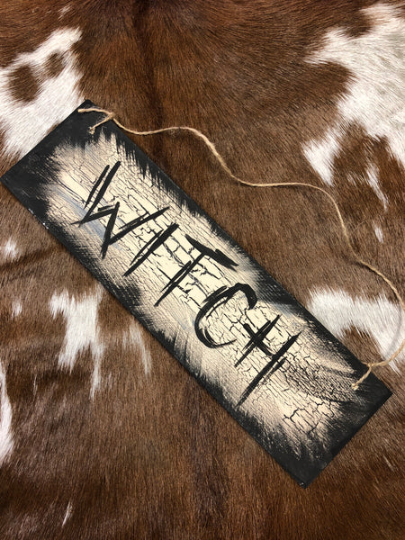 """Witch"" Wall Plaque"