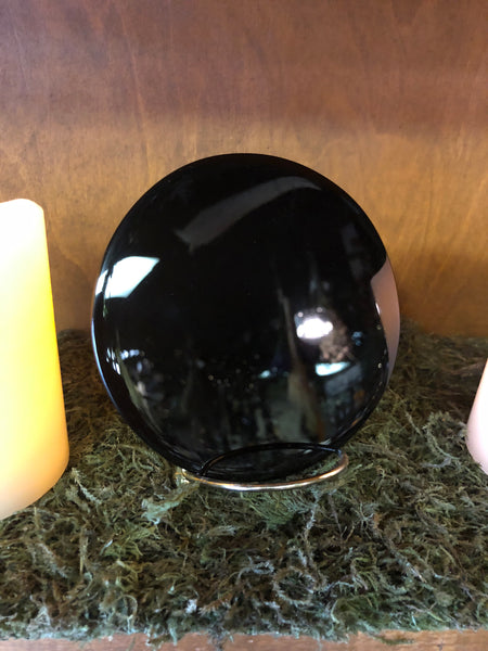 "5"" Black Obsidian Scrying Mirror"