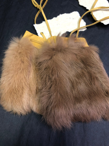 Brown Rabbit Fur Bag