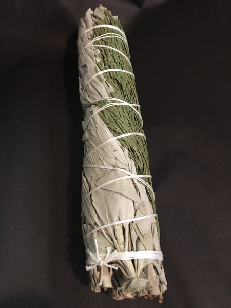 White Sage and Cedar Smudge Stick - Large