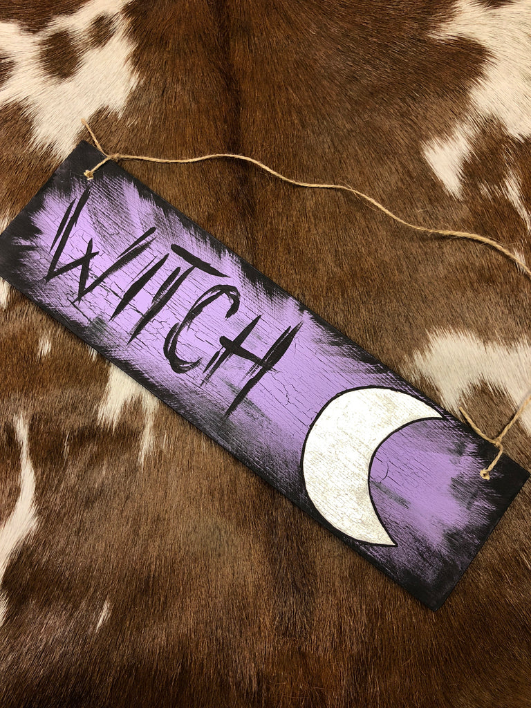 Witch and Moon Plaque