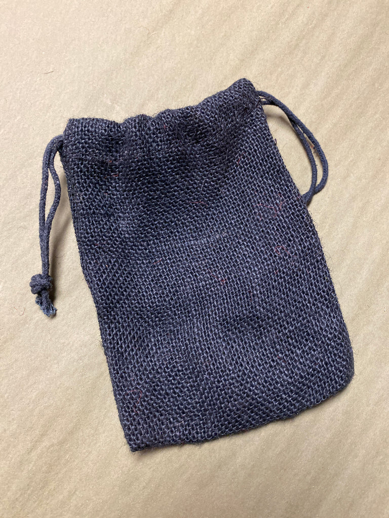 Black Burlap Bag