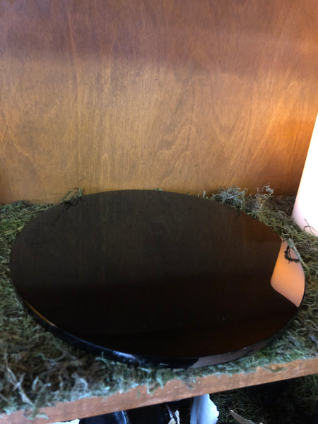 "8"" Black Obsidian Scrying Mirror"