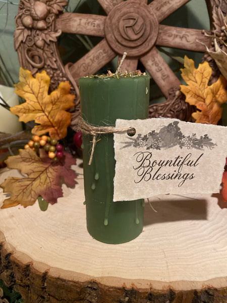 100% Beeswax Candle - Bountiful Blessings
