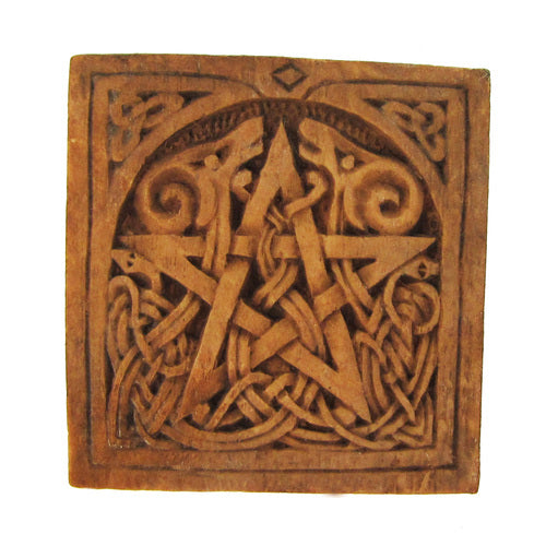 Small Pentacle Plaque with Ram Heads