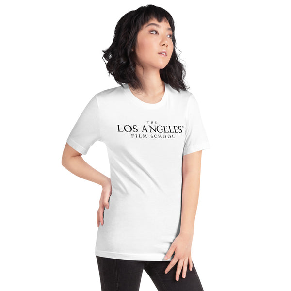 The Los Angeles Film School White Short-Sleeve Unisex T-Shirt