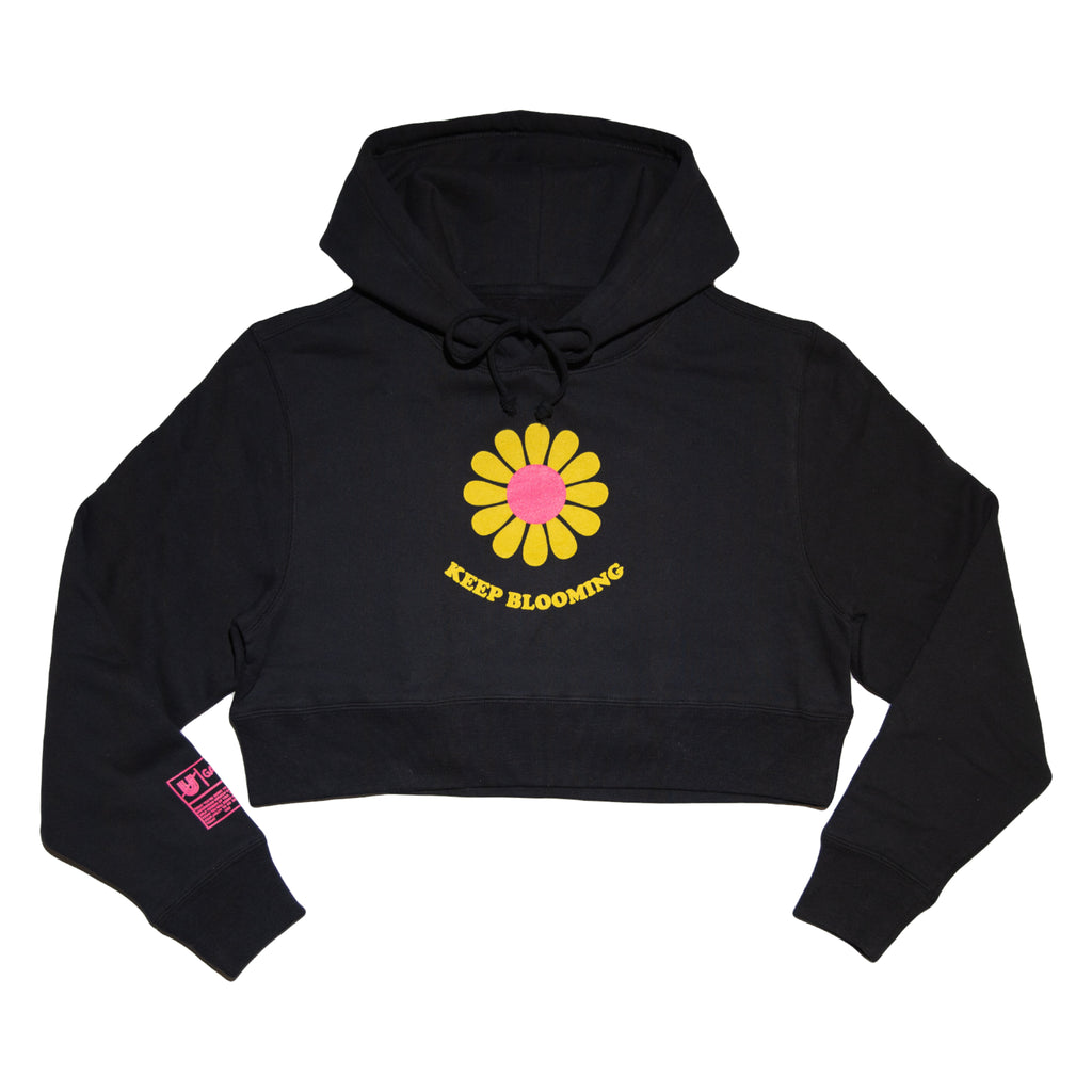 Keep Blooming Crop Top Hoodie