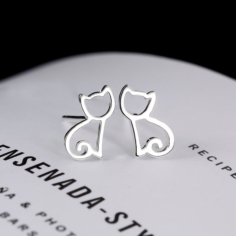 Love Cats - Earrings (925 Sterling Silver)