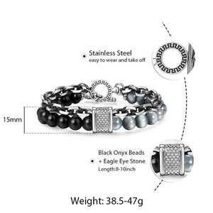 Bad Boy Bracelets - Steel & Stone