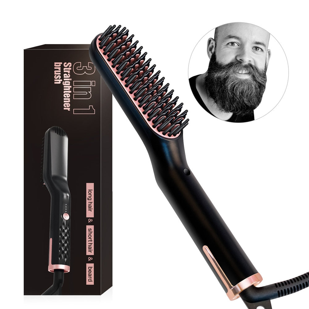 Hair/Beard (Straightening) Brush (US EU UK AU)