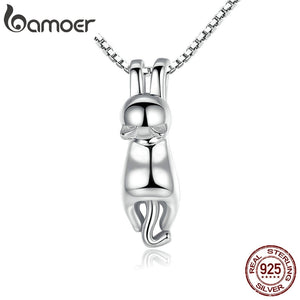 Cat Silver - Necklace (925 Sterling Silver)