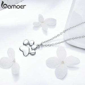 Paw Necklace (925 Sterling Silver/Rose Gold/Copper)