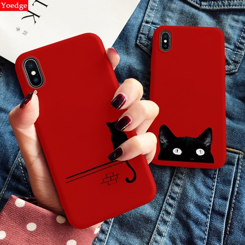 Cats in Red - iPhone Cases
