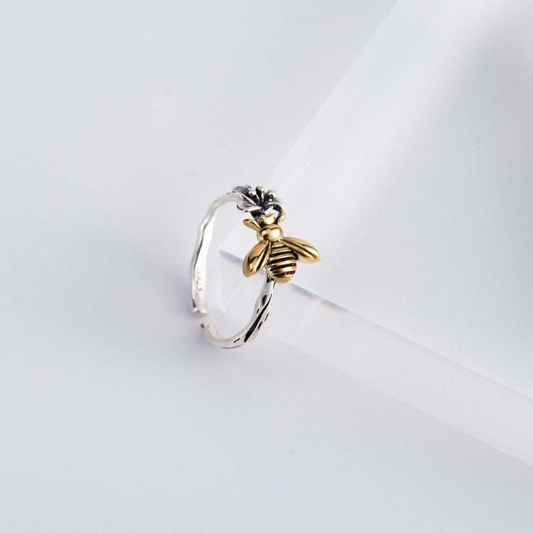 Honey Bee Ring (925 Sterling Silver)