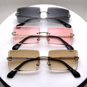 Rimless Sunglasses - Square Fashion