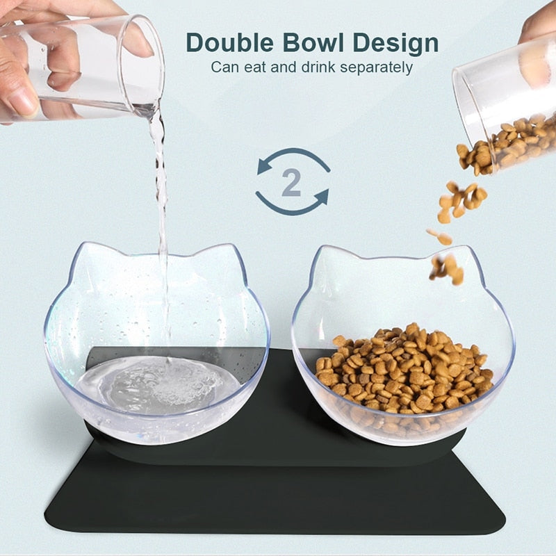 Double Cat - Food/Water Bowl
