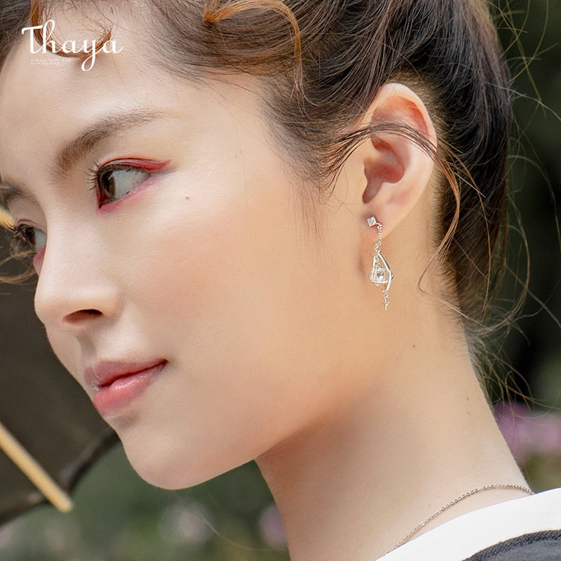 Young Girl - Silver Earrings