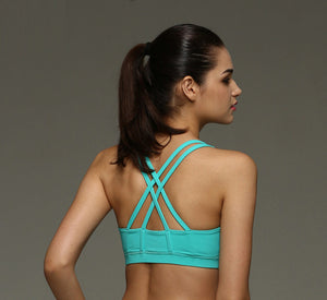 Cross-Over Sports Bra - Fitness (S/M/L), Fitness, Mermaid Curve Energetic Girl Store, Miss Molly & Co. - Miss Molly & Co.