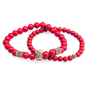 Red Earth - Bracelet (2pcs/Set) - Miss Molly & Co.