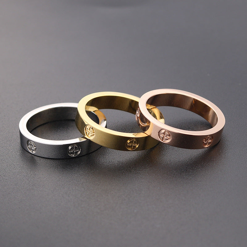 Style Screw Ring (Rose Gold Stainless Steel)