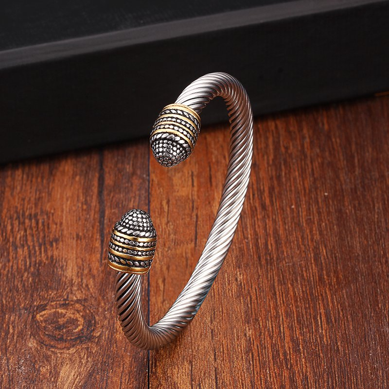 Two-Tone Cuff - (Stainless)