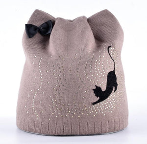Winter Cat Lady Beanie