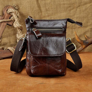 Cool Cow - Men's Waist Belt Shoulder Bag, Handbag, GuangZhou Cool Cow Leather Industry Co. Ltd, Miss Molly & Co. - Miss Molly & Co.