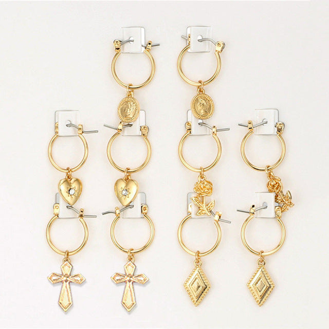 Hoop Pack Gold/Silver (5pairs), Earrings, VIVILADY Official Store, Miss Molly & Co. - Miss Molly & Co.