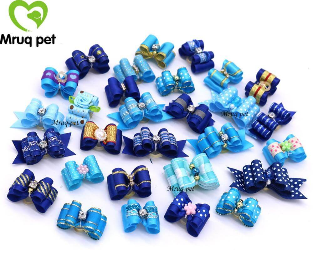 Blue Charmer - Pet Hair Bows (20pcs)