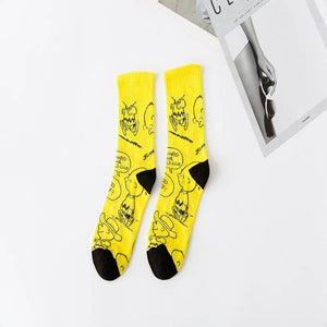 Retro Smiley Socks - Men (Cotton)
