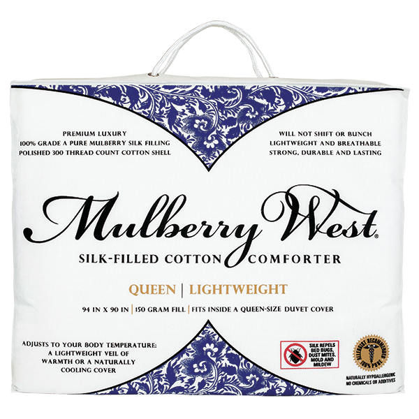 Shop Mulberry Silk Filled Comforter Queen Mulberry West